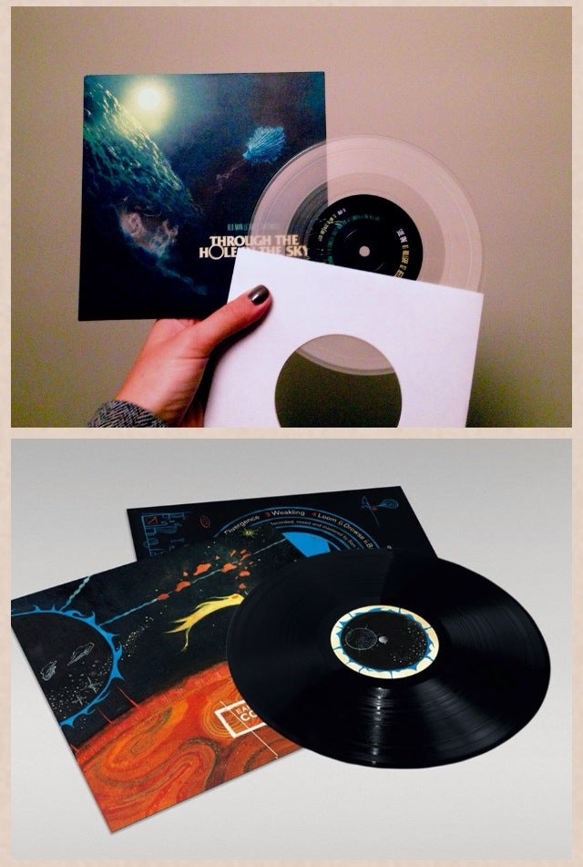 Image of Earthmass BUNDLE - 'Collapse' 180 gram vinyl + 'Through The Hole In The Sky' split