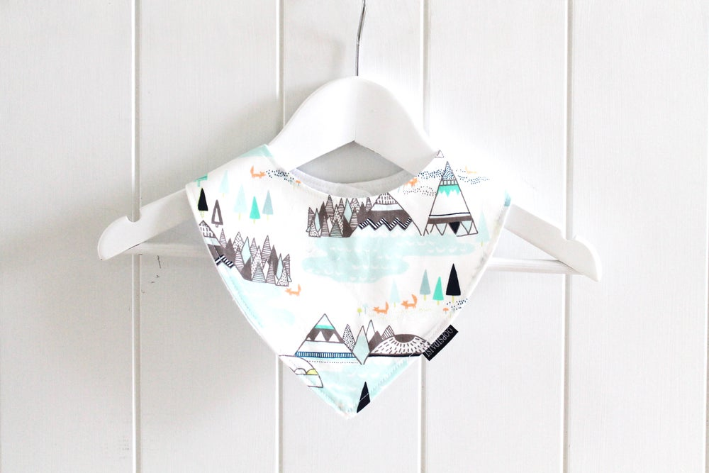Image of Bandana Bib - Mint Indian TeePee