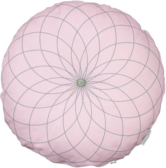 Image of  'Dahlia' round cushion dusty pink