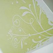 Image of 'Fresh', Letterpress Cards (Set of 6, green)