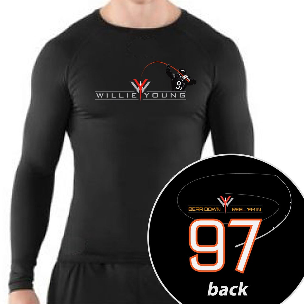 Image of Willie Young long sleeve compression shirt - Black