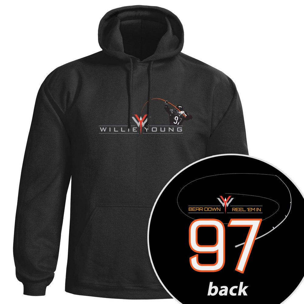 Image of Willie Young hoodie sweatshirt - Black
