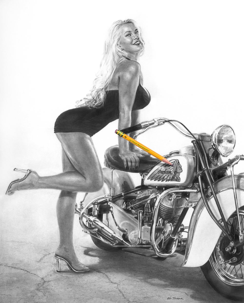 "Image of ""Vintage Curves"" Signed & Numbered 20x24 Giclee' Print"