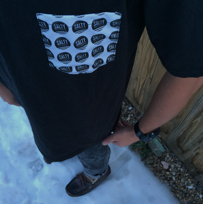 Image of Salty Beards Signature Pocket Tee