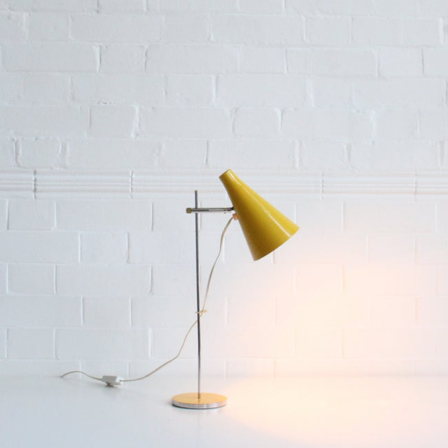 Image of Yellow Josef Hurka desk light