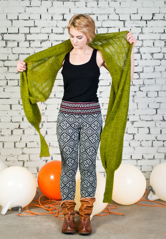 Image of Sleeve scarf green