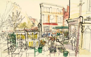 Image of Columbia Road Flower Market Print