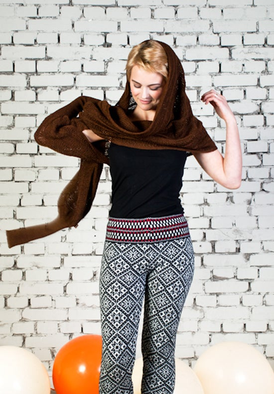 Image of Sleeve scarf brown