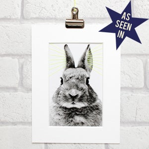 Image of Bunny thread art
