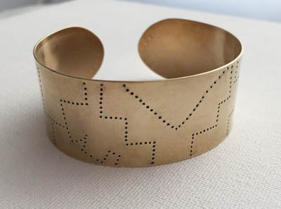 Image of Brass Abstract Cuff