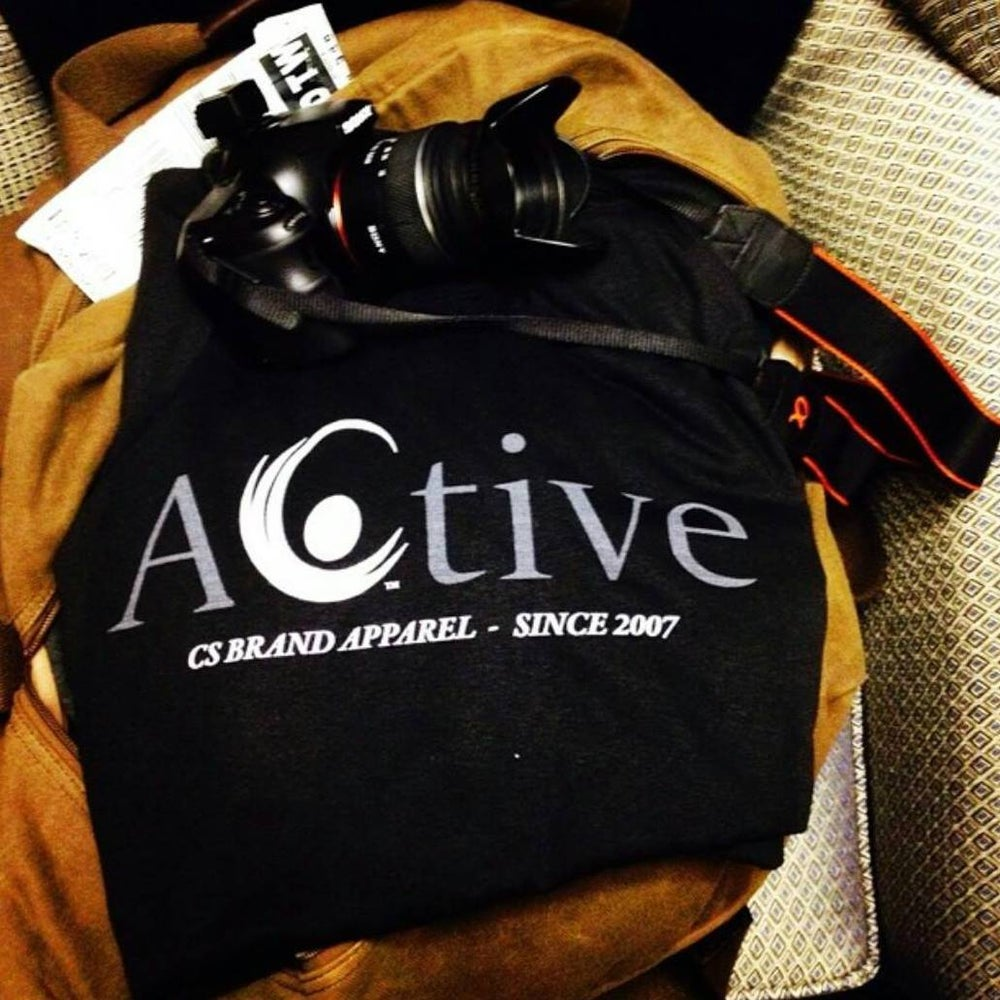 Image of Active T - White / Blk Logo