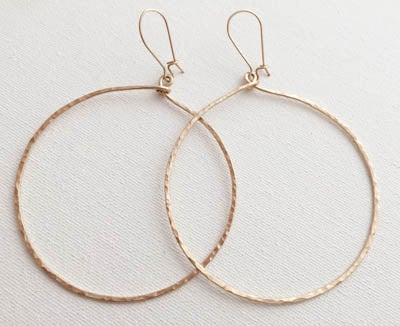 Image of Lg. Gold Hanging Hoops