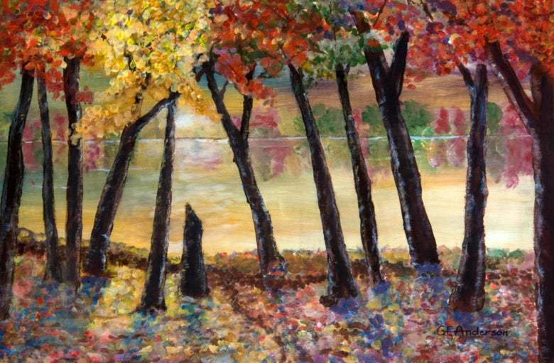 Image of Autumn by Lake