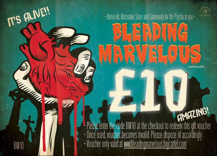 Image of Bleading Marvelous Gift Vouchers £10