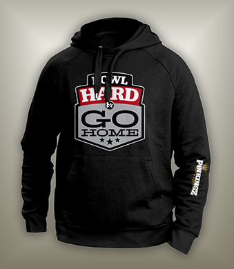 Image of Bowl Hard or Go Home Hoodie // Black - Red - Silver