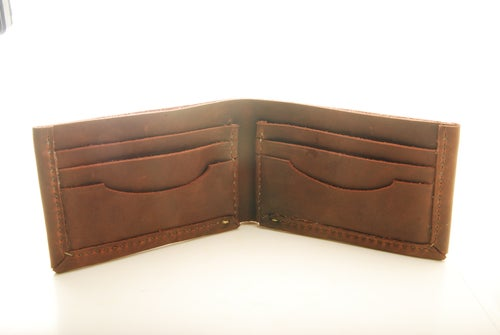 Image of Stoned Oil Leather Bifold Wallet
