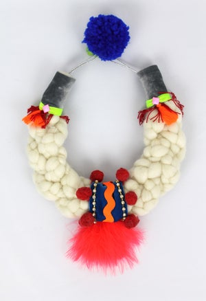 Image of WOOL + CORAL FEATHERS COLLAR II