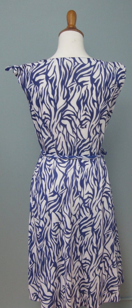 Image of 70s Chic Blue And White Resort Dress