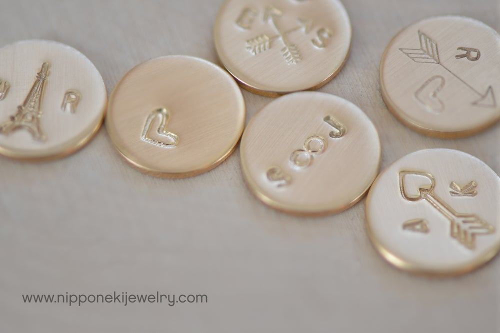 Image of Minimal Gold - Gold Necklace - Personalized Tiny Disks - Valentine's Day Gift