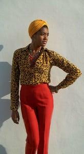 Image of Rare Vintage Ferragamo Lipstick  Red Capri Pants                                <del> 210.00 </del>