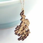 Image of Medium Gold Blossom Pendant with Chain