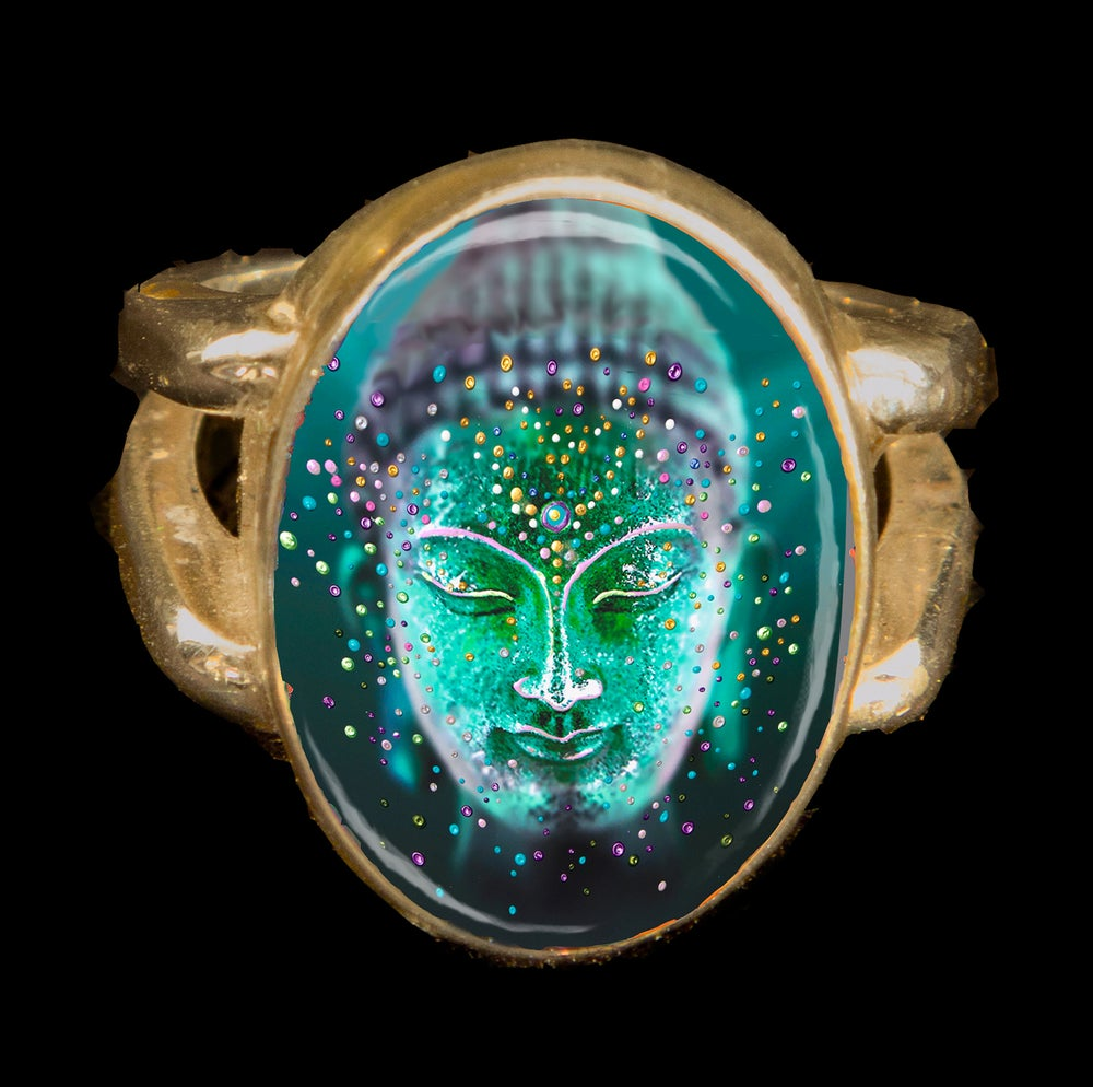 Image of The Jade Buddha Good Luck Energy Ring