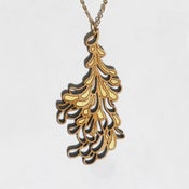 Image of Large Gold Blossom Pendant with Chain