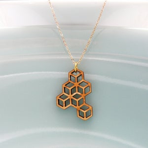 Image of Small Honeycomb Pendant with Chain