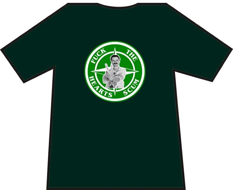 Hibs, Hibernian Fuck The Hearts Scum Begbie T-Shirt