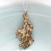 Image of Large Silver Blossom Pendant with Chain