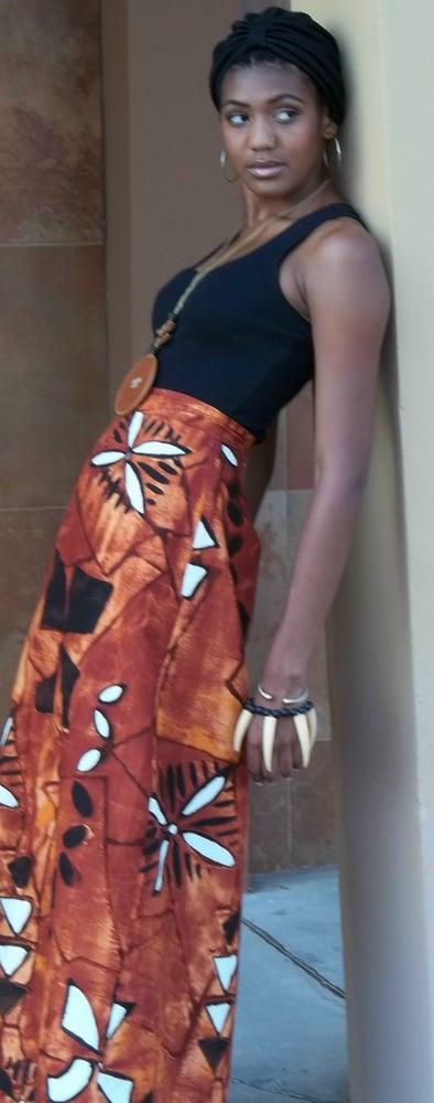 Image of 1970s Calder-esque Print A-Line Maxi Skirt