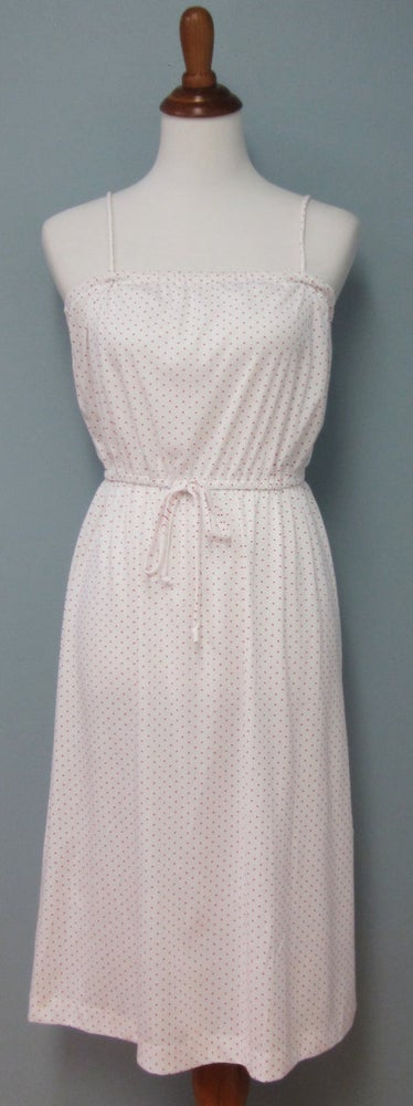 Image of Sweet Red And White Pin Dot Sun Dress