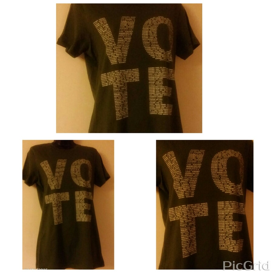 Image of VOTE TSHIRT ARMY GREEN WOMEN'S ONLY