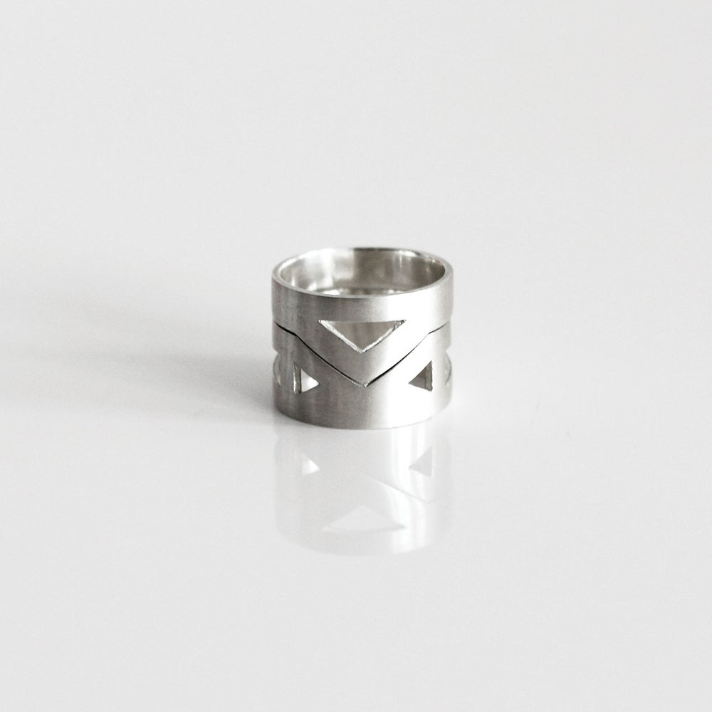Image of Aztec Duo Ring | Sterling Silver