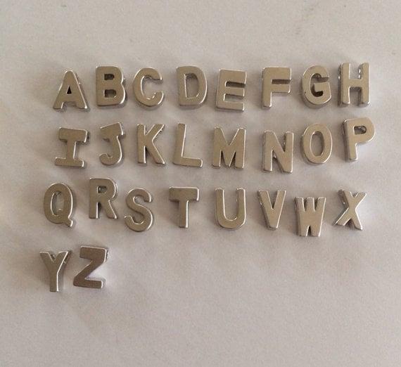 Image of upper case love letter chain bracelet