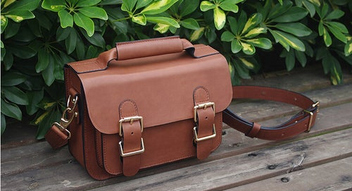 Image of Custom Handmade Leather Satchel Bag, Briefcase Messenger Bag Shoulder Bag Men's Handbag D014