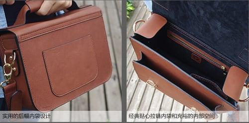 Image of Custom Handmade Leather Satchel Bag, Briefcase Messenger Bag Shoulder Bag Men's Handbag D014