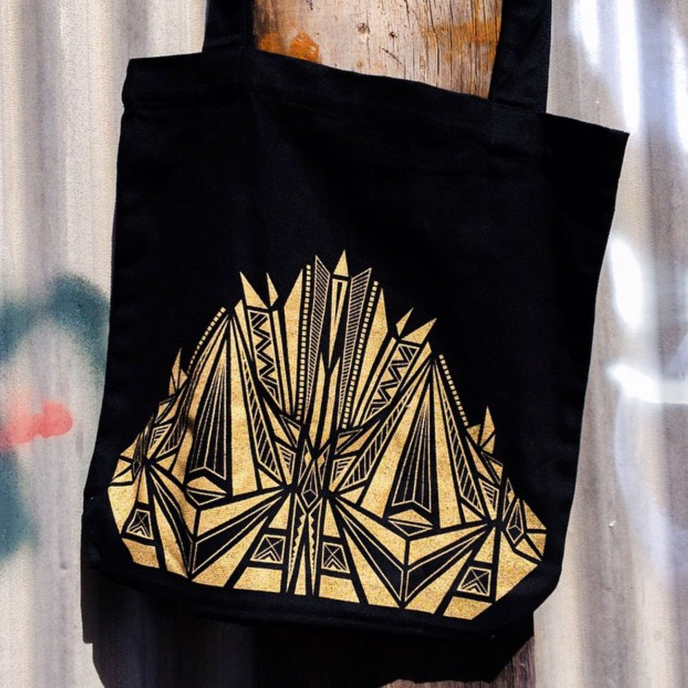Image of Aztec Tote Bag | Black & Gold