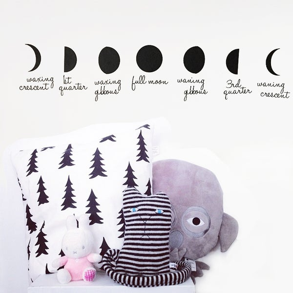 Image of Phases of the Moon Wall Decal