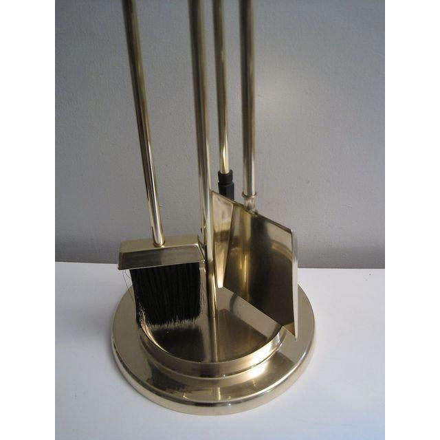 Image of Lucite & Brass Albrizzi Fireplace Tools