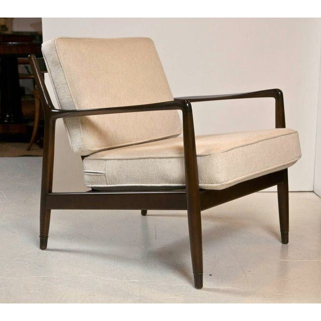 Image of Dux Mid-Century Modern Walnut Accent Chair