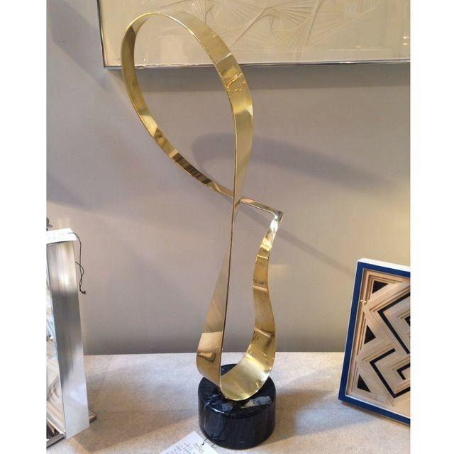 "Image of Vintage Kinetic Brass Jere ""ribbon"" Sculpture"