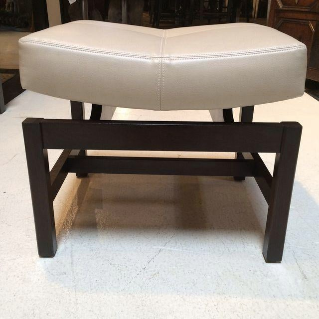 Image of Jens Risom Walnut Ottoman