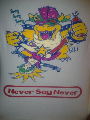 Image of Never Say Never Bowser/Princess Peach bondage shirt