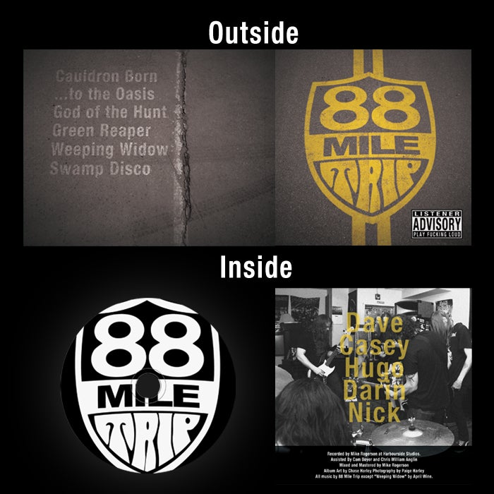 Image of 88 Mile Trip (Self Titled EP) CD - SOLD OUT