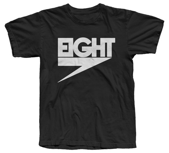 Image of Electric Eight Tee (White/Black) - Free Shipping