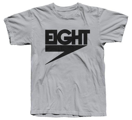 Image of Electric Eight Tee (Black/New Silver) - Free Shipping