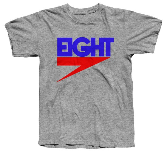 Image of Electric Eight Tee (RB/Grey)