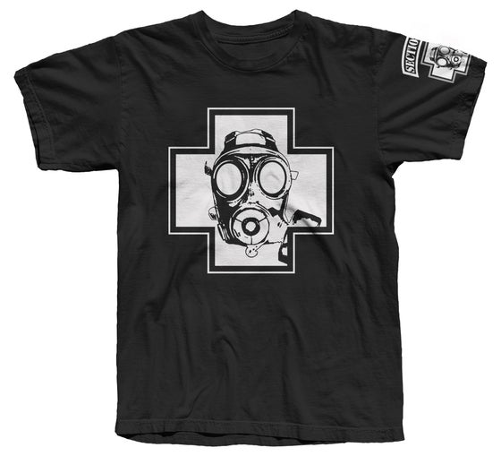 Image of Gas Mask Tee (White/Black) - Free Shipping!