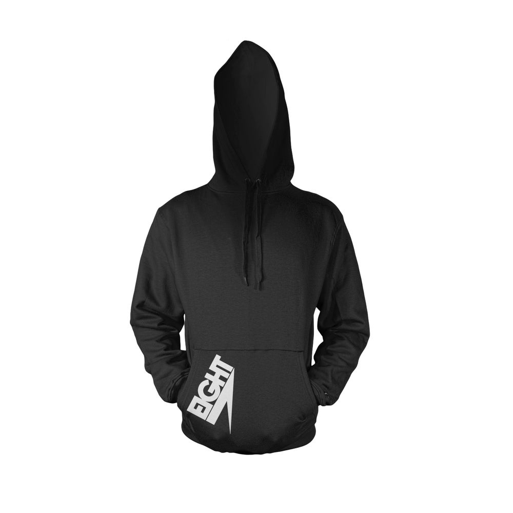 Image of Pullover Electric Eight Hoodie (White/Black)